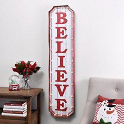 Pre-Lit Christmas Believe Marquee Plaque