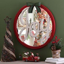 Christmas Joy Mirror Wall Plaque