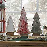 Weathered Wood Christmas Trees, Set of 3