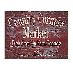 Country Corners Market Canvas Art Print