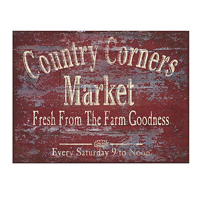Country Corners Market Canvas Art Print
