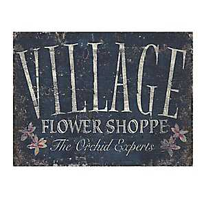 Village Flower Shoppe Canvas Art Print