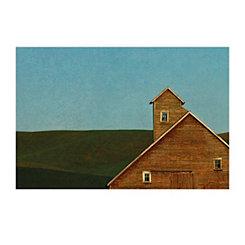 Red Barn Blue Sky Canvas Art Print
