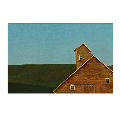 Red Barn Blue Sky Canvas Art Print