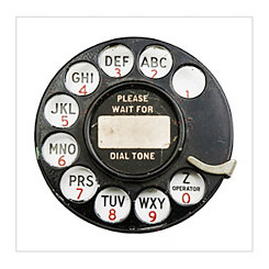 Rotary Dial Canvas Art Print