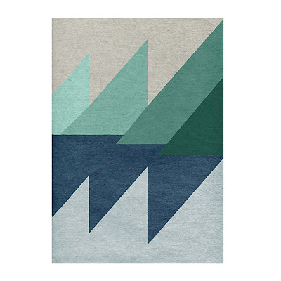 Linen Geometrics Canvas Art Print