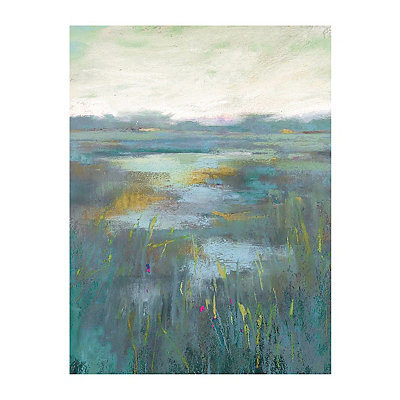 Teal Misty Moors Canvas Art Print