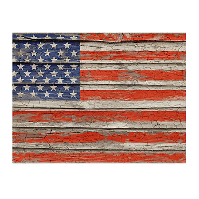 Weathered Old Glory Canvas Art Print