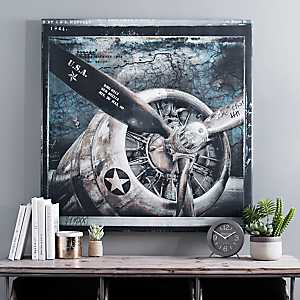 Wing and a Prayer Canvas Art Print