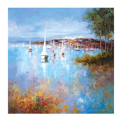Harbor Hues Canvas Art Print