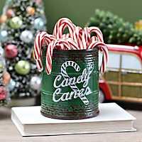 Green Ceramic Candy Cane Jar