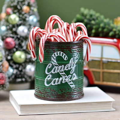 Green Ceramic Candy Cane Jar