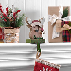 Polka Dot Reindeer Stocking Holder
