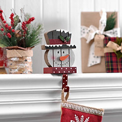 Polka Dot Snowman Stocking Holder