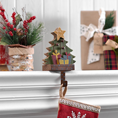 Polka Dot Christmas Tree Stocking Holder
