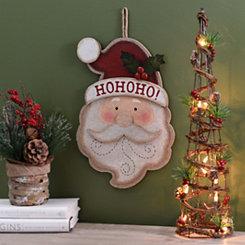 Blushing Santa Claus Head Plaque