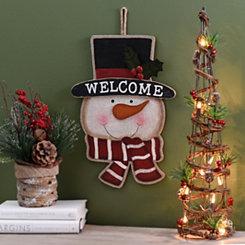 Blushing Snowman Head Plaque