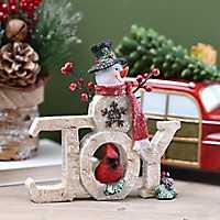 Celebrating Joy Snowman Statue