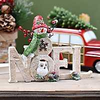 Celebrating Noel Snowman Statue