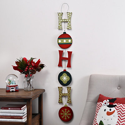 Ornament Ho Ho Ho Hanging Sign