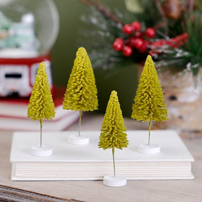 Miniature Pine Trees, Set of 10
