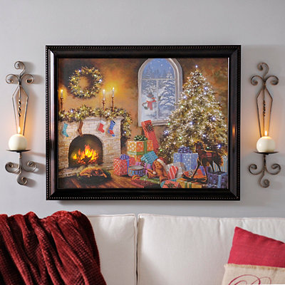 Not A Creature Was Stirring LED Framed Art Print