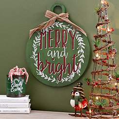 Merry and Bright Ornament Wall Plaque
