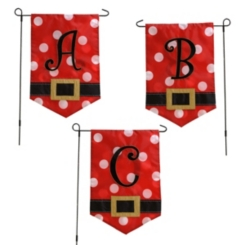 Santa Belt Monogram Flag Sets