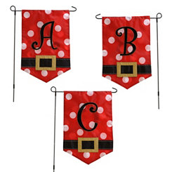 Santa Belt Monogram Flag Sets