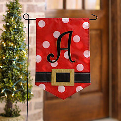 Santa Belt Monogram A Flag Set