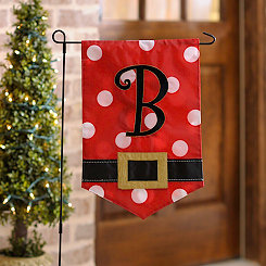 Santa Belt Monogram B Flag Set