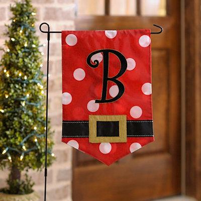 Santa Belt Monogram B Flag Set
