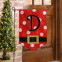 Santa Belt Monogram D Flag Set