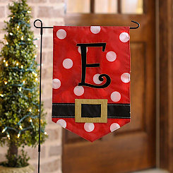 Santa Belt Monogram E Flag Set