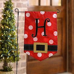 Santa Belt Monogram H Flag Set