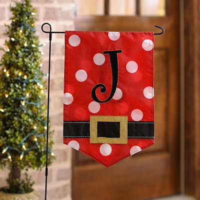 Santa Belt Monogram J Flag Set