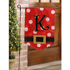 Santa Belt Monogram K Flag Set