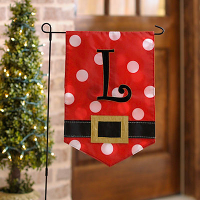 Santa Belt Monogram L Flag Set