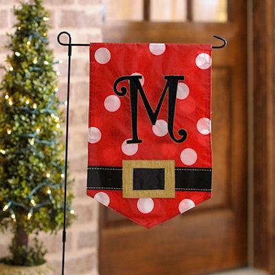 Santa Belt Monogram M Flag Set