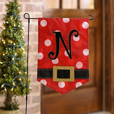 Santa Belt Monogram N Flag Set
