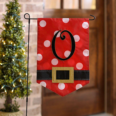 Santa Belt Monogram O Flag Set