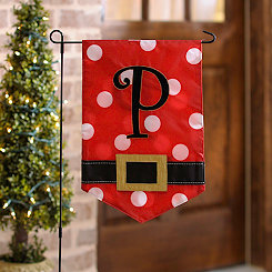 Santa Belt Monogram P Flag Set