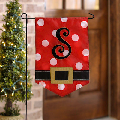 Santa Belt Monogram S Flag Set