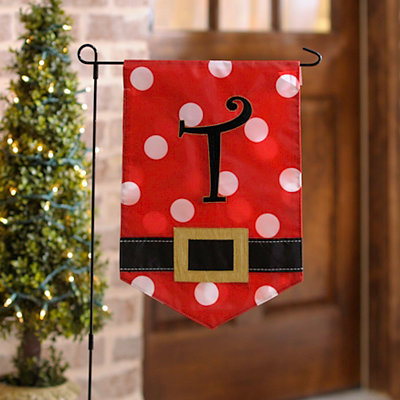 Santa Belt Monogram T Flag Set