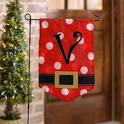 Santa Belt Monogram V Flag Set
