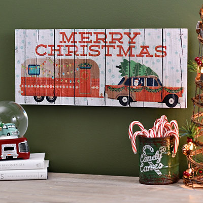 Merry Christmas Car and Camper Plaque