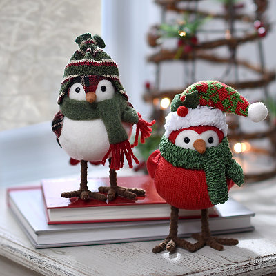 Christmas Plush Birds, Set of 2