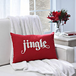 Red Embroidered Jingle Pillow