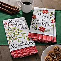 Merry Mistletoe Decorative Hand Towels