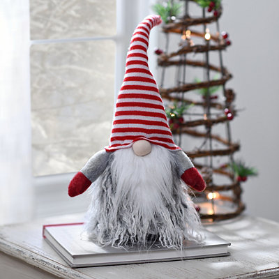 Striped Christmas Gnome Plush